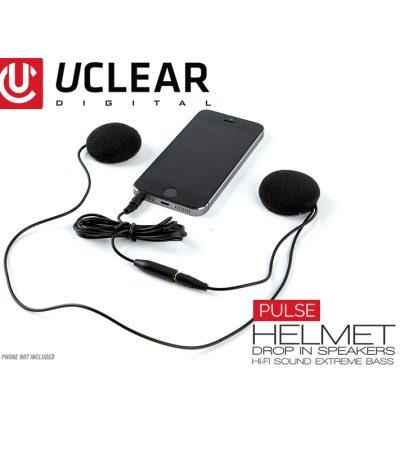2016_UCLEAR_Pulse_Drop_In_Motorcycle_Speaker_Helmet_Audio_System_Kit_w_Phone